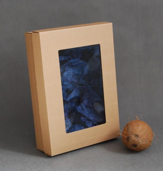 Pudełka z tektury falistej (wieczko + spód z zameczkiem) - instrukcja składania