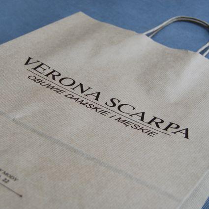 Torebki papierowe z nadrukiem dla Verona Scarpa