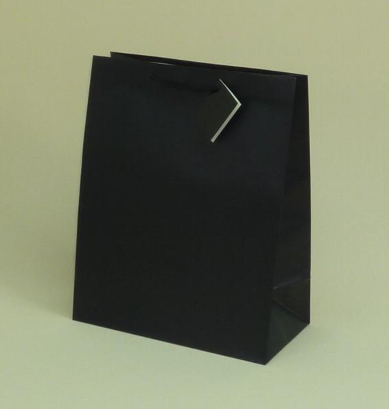 7071079b606a0 Torba papierowa L 26x13x32 cm /czarna mat/12szt - Torebki, torby ...